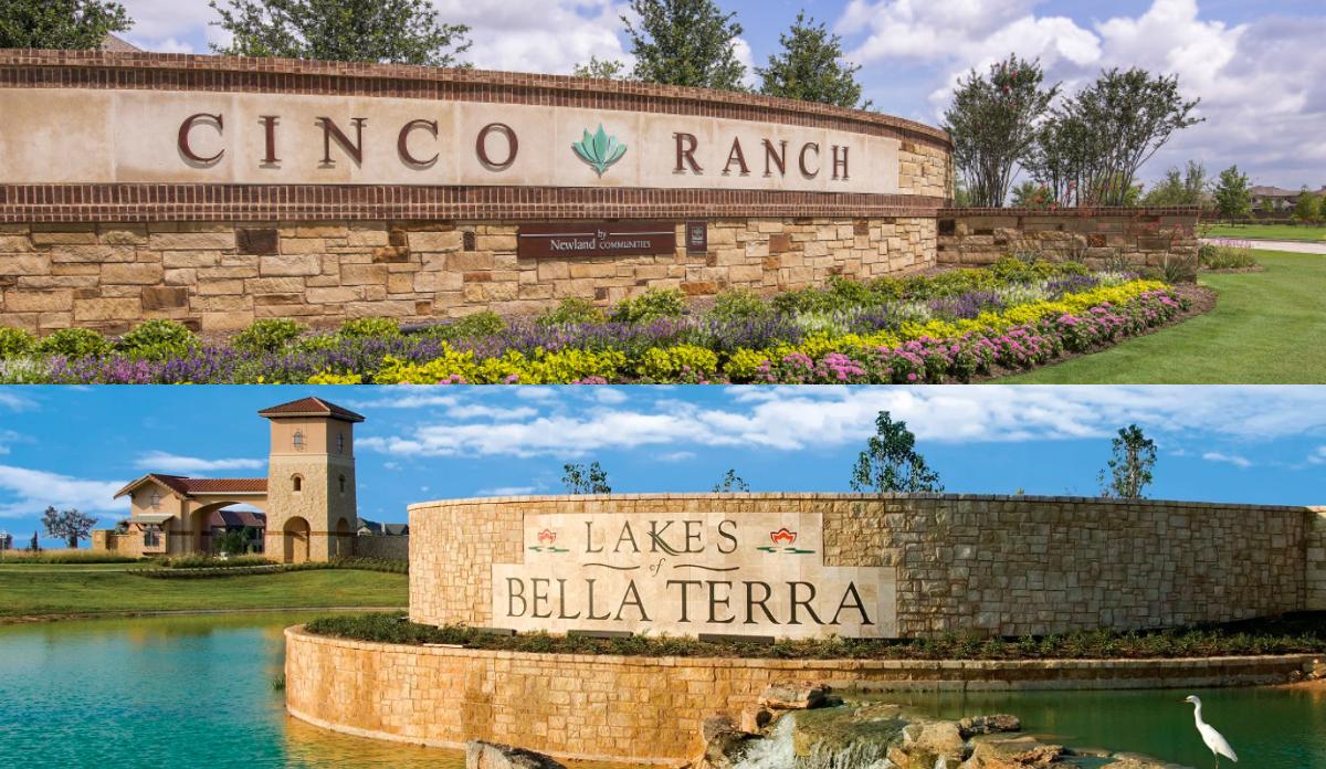 cinco ranch or lakes of bella terra
